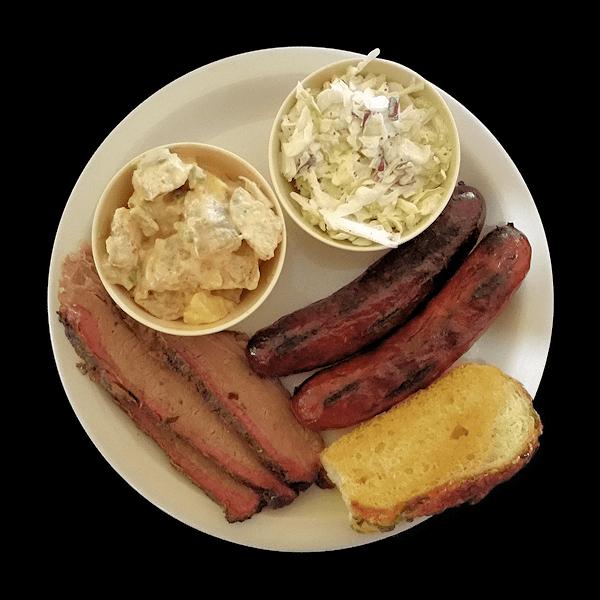 Smoken Moe's Brisket & Hot Link Platter