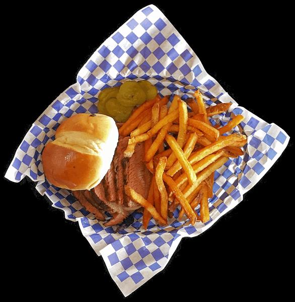 Smoken Moe's Sliced Smoked Brisket Sandwich