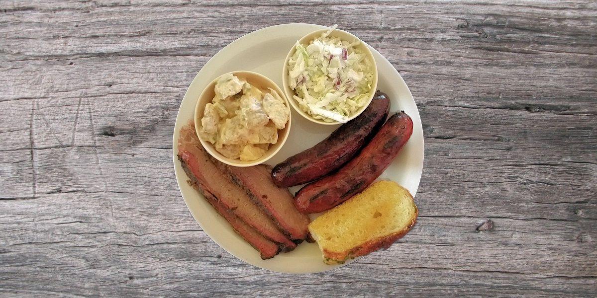 Smoken Moe's Unreal BBQ Menu - Brisket & Hot Link Platter