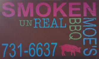 Smoken Moe's Unreal BBQ Logo